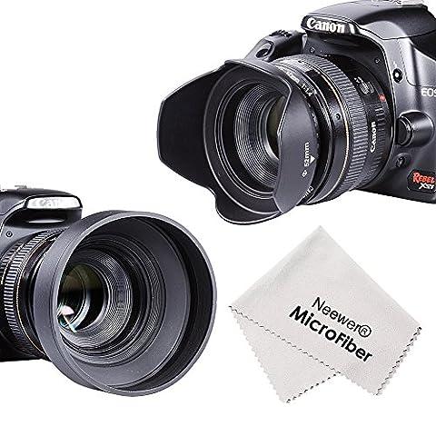 Neewer® 52mm Kit d'Accessoires pour Nikon D7100 D7000 D5300 D5200 D5100 D5000 D3300 D3200 D3100 D3000 D90 D80 Appareils Photo Numériques Reflex - Inclus: Tulipe Parasoleil + Parasoleil Pliable en Caoutchouc + Filtre UV + Stylo de Nettoyage pour Objectif + Chiffon de Nettoyage en Microfibre