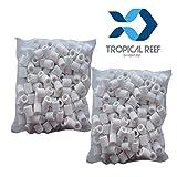 tropical-reef 1000g (1KG) Filtro in ceramica anelli filtro biologico media in sacchi per acquario/stagno filtri