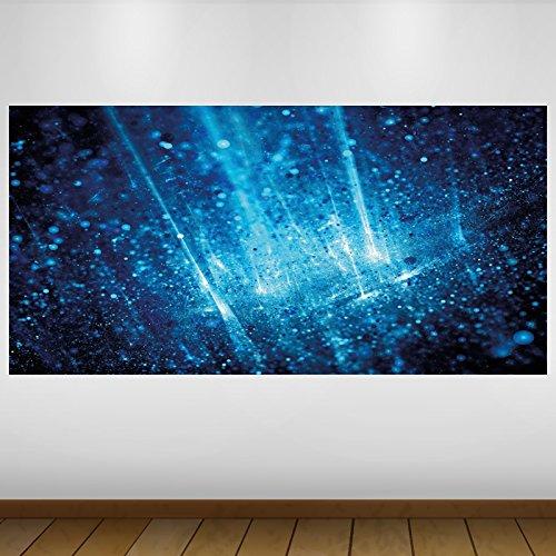 LagunaProject Extra Grand Les Particules de lumière Bleu Vinyle Abstrait Sticker Autocollant Affiche Poster -140cm x 70cm