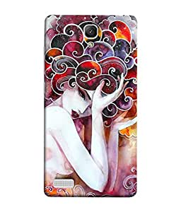 Xiaomi Redmi Note, Xiaomi Redmi Note 4G, Xiaomi Redmi Note Prime Back Cover Beautiful Fantasy Painting Of Lilac Flower Fairies Detailed Colorful Artwork Design From FUSON