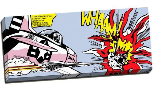 Unbekannt Gerahmter Kunstdruck Roy Lichtenstein Whaam! Luftkampf Pop-Art-Druck, 76x 41cm