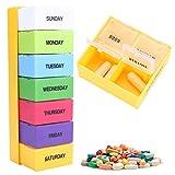 Scatola per pillola settimanale da 7 giorni porta scomparti medicinali impermeabile per ogni giorno della pillola della medicina