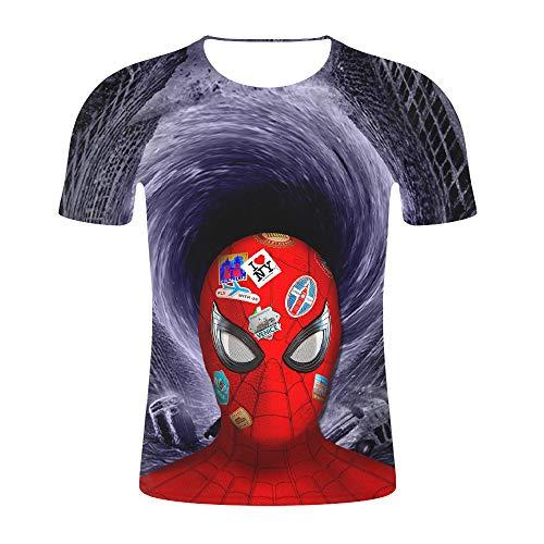 JUFENG Neue Designt-Shirt Männer/Frauen Bestaunen Film Avengers/Endspiel/T-Shirts Mit 3D-Druck Kurzärmlige Streetwear-Tops Im Harajuku-Stil,Z26-XL