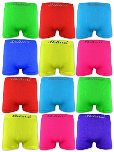 BELUCCI 4   10   20 Herren Microfaser Boxershorts versch. Farben 4 Stück - Farbmix Hell