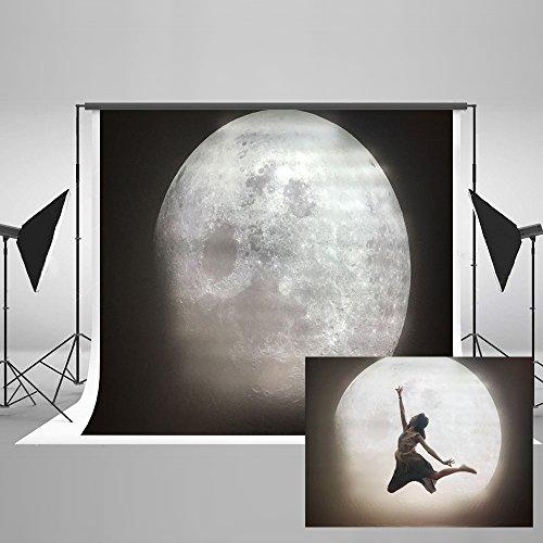 KateHome PHOTOSTUDIOS 2,2x1,5m Abstrakt Fotografie Hintergrund Mond Fotohintergrund Dunklen Himmel Hintergrund Mikrofaser Foto Hintergrund Professionelle Fotografie für Fotostudios Photo Booth Props (Prop Ideen Für Photo Booth)