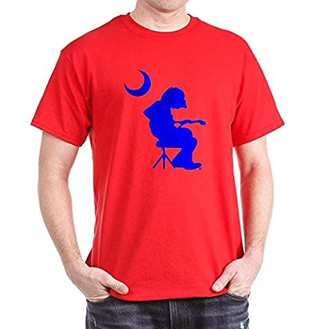 CafePress - Palmetto Moon Flag Mikey Houser Guitar Player T-Sh - 100% Cotton T-Shirt