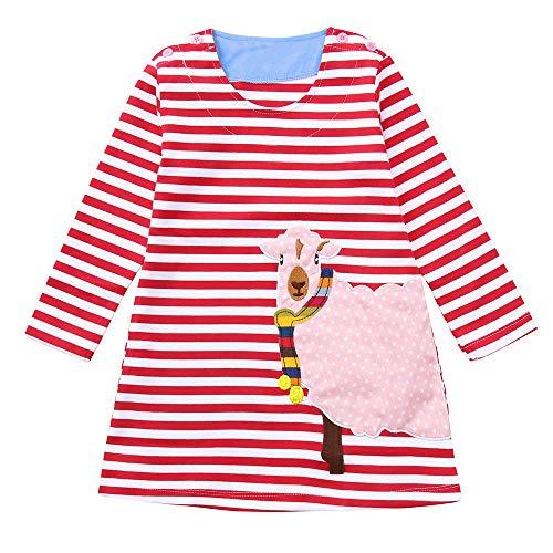 Barbie Outfits Für Teenager Mädchen - Gestreifte Prinzessin Dress Kleinkind Kinder Baby
