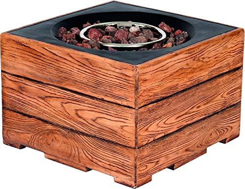 Clifton Gasofen Standard Teak Garten Gaskamin Heizpilz Feuerstelle Terassenkamin Kamin