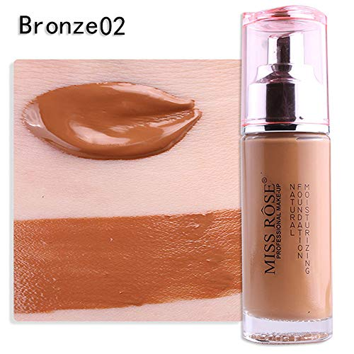 Cwemimifa Concealer Flawless,Miss Rose Liquid Foundation Gesichtsfarbe wasserdichte Concealer-Make-up-Basis,Beige (Dermablend Foundation Bronze)