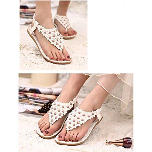 Sandalo beige con stringhe per per per donna Toogoo X5AYagQM5   03ed55