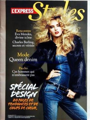 EXPRESS STYLE [No 3141] du 14/09/2011 - SPECIAL DESIGN - MODE QUEEN DENIM - CES HOMMES QUI N'EMBRASSENT PAS - RENCONTRES / EVA MENDES ET CHARLES BERLING