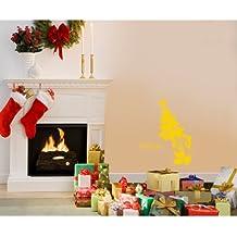 60 cm x 32 cm Tamaño de navidad color amarillo Mickey mouse con su nombre elegido, nombre, nombre personaliseitonline, árbol de Navidad, infantil, vinilo del coche, las ventanas y pared, ventanas de pared arte, etiquetas de Navidad, adorno adhesivo de vinilo ThatVinylPlace