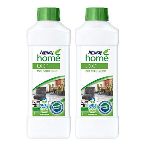 Amway L.O.C. - Detergente multiuso, 2 flaconi da 1 litro l'uno