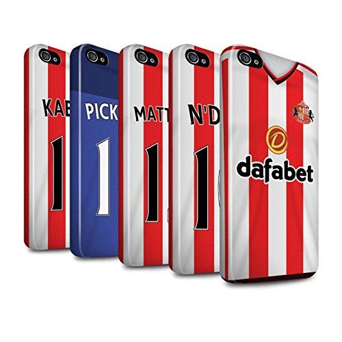 Offiziell Sunderland AFC Hülle / Glanz Harten Stoßfest Case für Apple iPhone 4/4S / Pack 24pcs Muster / SAFC Trikot Home 15/16 Kollektion Pack 24pcs