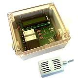 Hygrostat Feuchtraum Entfeuchter Differenz Lüftersteuerung Abluftsteuerung Raumtrockner mit LCD Anzeige incl. 2x Sensoren und Funk Radio Sensor 868MHz auch an FHEM / CCU2 mit Jeelink RFM69 nutzbar