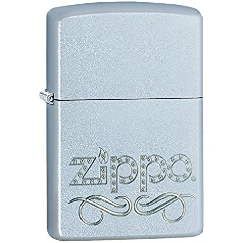 Zippo Stamp 60000857 - Mechero, color brushed chrome