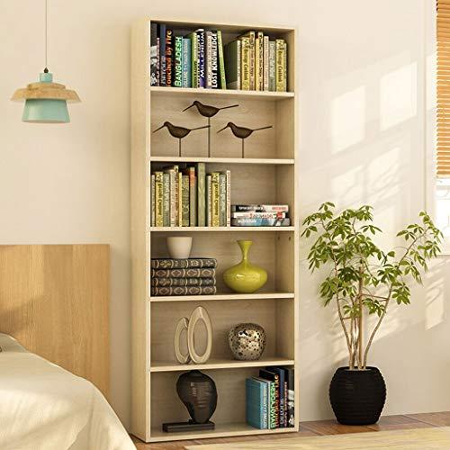 YST Bücherregal HX Bookcase Bookshelf Bookcase Bookshelf File Cabinet Sechs-Schicht-Speicher Storage Cabinet Mehrschichtiges einfaches Lagerregal (Color : Oak) - Oak Media Storage