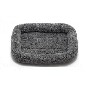Vendita Calda 4 Colori Inverno Caldo di Base gli Animali Domestici Imbottito Rafforzare Traspirante Cani Gatti Animali Domestici Cuscino Letti Mats (L, grigio)
