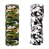 #8: Military Unisex 10 in1 Multifunctional tube Bandana, Headwrap bandana for biking cyling hiking etc,tube design Balaclava Free Size combo of two