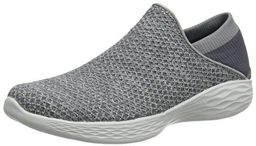 Skechers Damen You Slip On Sneaker, Grau (Charcoal), 39 EU