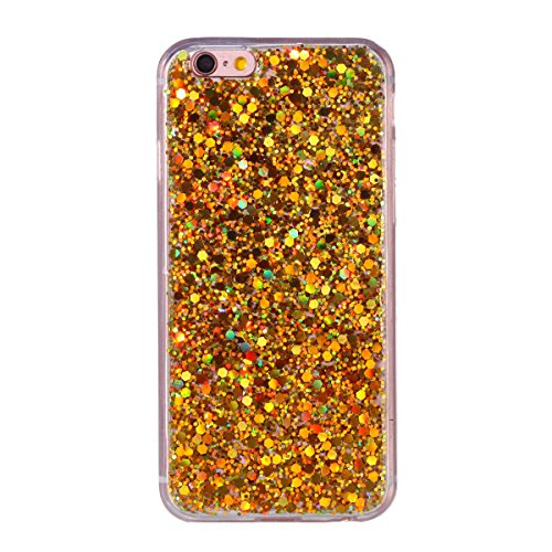 """MOONCASE iPhone 6/iPhone 6s Hülle, Bling Glitter Weich TPU Handyhülle Ultra Slim Anti-Kratzer Stoßfest Schutz-tasche Case für iPhone 6/iPhone 6s 4.7"""" Lavendel Golden"""