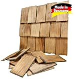 Tegole tetto, battuto a mano, color noce 200 Pezzi 4x2,3x0,3cm