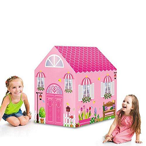 WANNA.ME Kinder Spielen Zelt Mädchen Spielzeug Prinzessin Schloss Spielen Zelt Kinder Spielhaus mit Star Lights Geschenk für Kinder Indoor & Outdoor-Spiele