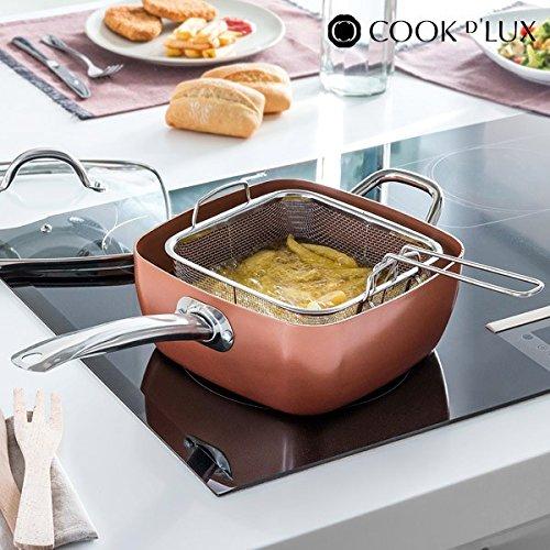 Appetitissime Multi Cook D\' Lux Padella Ceramica con Accessori, Alluminio, Rame, 24cm