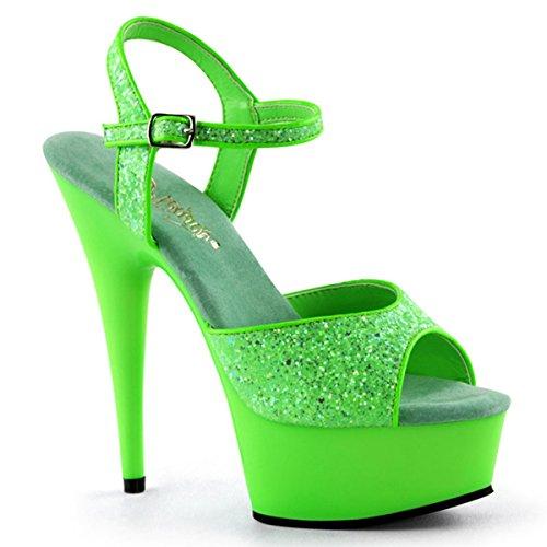 Heels-Perfect , Sandales pour femme Vert - Grün (Grün)