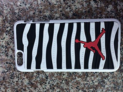 Coque pour Apple iPhone 5/5S, 6et 6Plus Motif semelle Air Jordan 10, rouge/noir, Apple iPhone 5/5s Blanc/noir