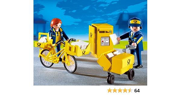 Playmobil Post Briefkasten 4403 Postboten Liefer-Fahrrad Deutsche Post Spielzeug