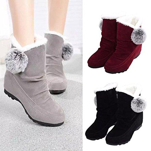 Bottines Pour Femmes, Somesun Fashion Cheville Femmes Bottes Chaussures Casual Chaussures Chaussures En Daim Chaud Chaussures Confortables Gris