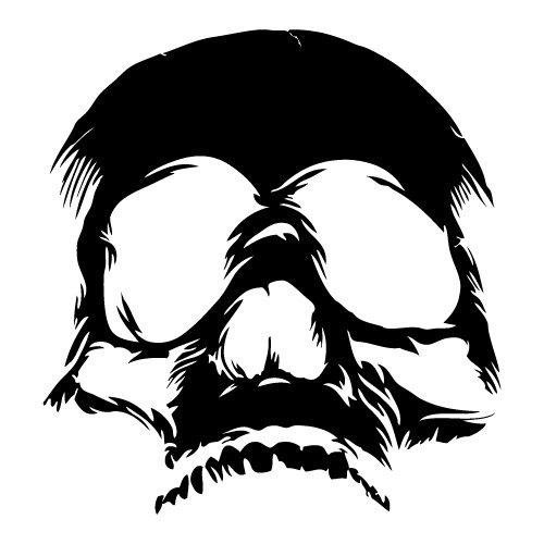 Juego de 2 pegatinas tuning de calavera 11 skull moto custom decal...