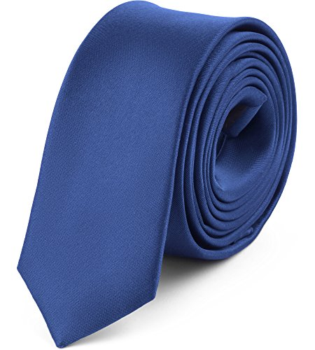 Ladeheid Corbata Estrecha para Hombres SP-5 (150cm x 5cm, Azul Marino)