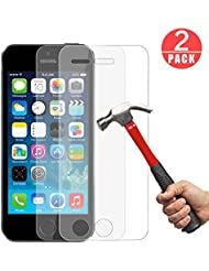 [2 Pièces] Verre Trempé iPhone SE/5S/5C/5,GenKi 0.26mm 9H Ultra Clear Extreme Résistant Film Protection iPhone SE/5S/5C/5