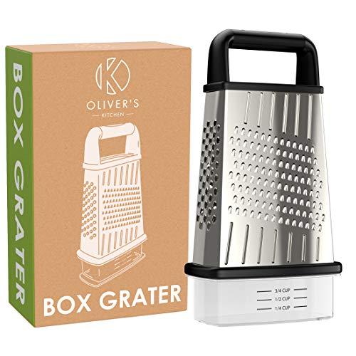 Stai cercando una nuova scatola GRATER che è forte e durevole? Allora non cercate oltre! Le grattugie di Oliver's Kitchen sono costruite per durare nel tempo. Realizzato in acciaio inox di alta qualità, flessibile che evita la ruggine e durerà più a ...