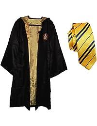 GenialES Disfraz de Uniforme y Corbata de Colegio para Halloween Carnaval Cosplay para Adultos Amarillo XL