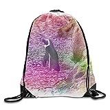 OQUYCZ Print Backpack Travel Gym Bags,Little Penguin Drawstring Bag
