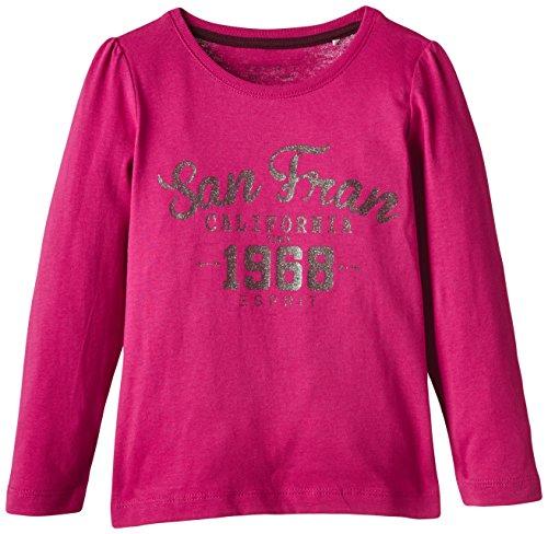 ESPRIT Mädchen Langarmshirt 085EE7K003, Gr. 104 (Herstellergröße: 104/110), Rosa (DARK PINK 650)