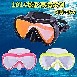 zxcvb Masque de plongée Professionnel, Respiration Libre, Facile à Utiliser Confortable, Miroir de plongée Professionnel Snorkeling