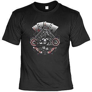 Bike Motorrad Karten As Poker: Let it Ride (Größe: M) T-Shirt