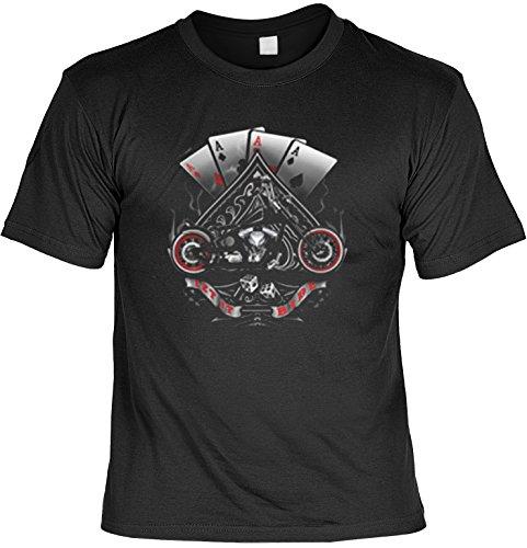 Biker T-Shirt Motiv Let it Ride Bike Shirt für Biker Rock T-Shirts für Herren Männershirt Laiberl Leiberl Hemad Schwarz