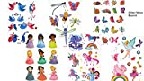 6Láminas Glitter Tattoo Princesa Tatuajes Falsos Tatuajes regalo para niños