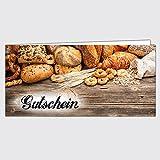"""Gutschein Bäckerei """"Gemischtes Brot"""" - Format: DIN Lang, 250 Stück"""