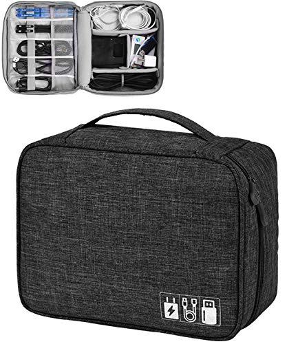 Elektronische Tasche - Elektronik zubehör organisator - universal travel Kabel Organizer Tasche (Schwarz (Elektronische Tasche)