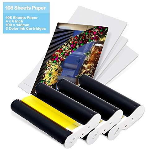 Compatibile canon photo ink paper set kp-108in sostituzione compatibile con canon selphy compact photo printer