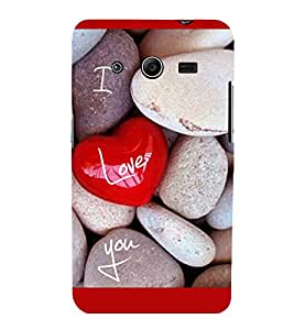 printtech I Love You Stones Back Case Cover for Samsung Galaxy Core 2 G355H