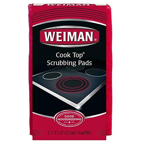 Weiman Cook Top Schrubben Pads, 18Zählen, rot, 18 Count
