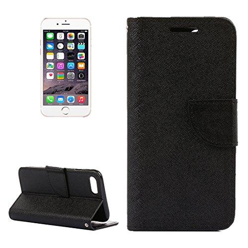 Hülle für iPhone 7 plus , Schutzhülle Für iPhone 7 Plus Kreuz Textur Horizontale Flip Leder Tasche mit Halter & Card Slots & Wallet ,hülle für iPhone 7 plus , case for iphone 7 plus ( Color : Blue ) Black