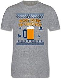 Weihnachten   Silvester - Ugly Christmas Merry Drunk I m Christmas - Herren  T- de96b4cc6c